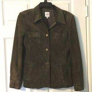Emanuel Ungaro Liberte' Suede Leather Jacket 8/42